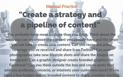 Social Tip: Create a strategy and a pipeline of content.