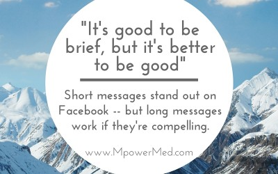 Social Tip: It's good to be  brief, but it's better  to be good