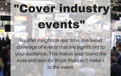 Social Tip: Cover industry events