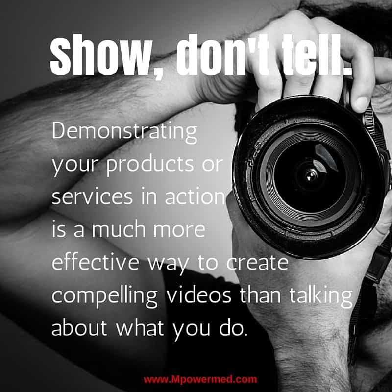 Social Tip: Show, Don't Tell.