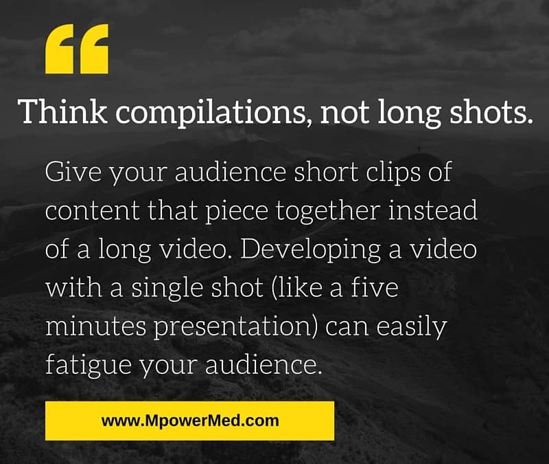 Social Tip:  Think Compilations, Not Long Shots.