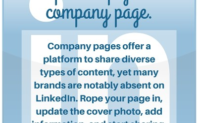 Social Tip: Spruce Up Your Company Page
