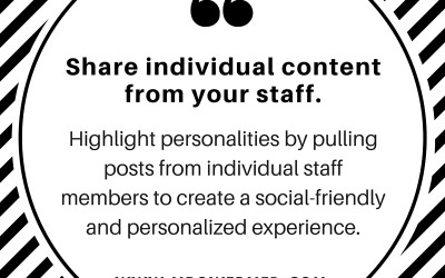 Share Individual Content From Your Staff.
