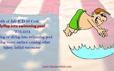 4th of July IDC-10 Code: Jumping or diving into swimming pool